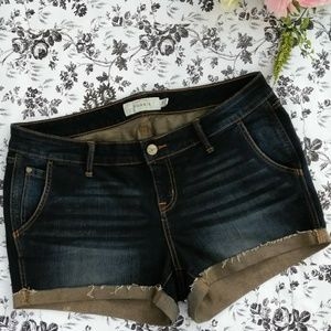 Torrid Dark Wash Jean Shorts Size 14